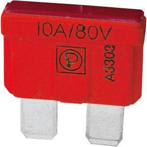 80V BLADE FUSE 10A. (10)