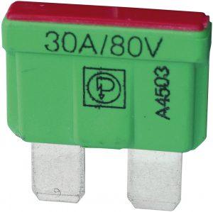 80V BLADE FUSE 30A. (10)